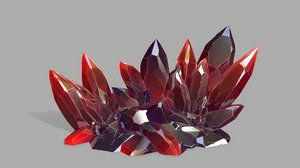 crystal rock 3D model