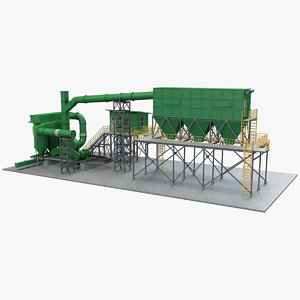 3D dust collector model