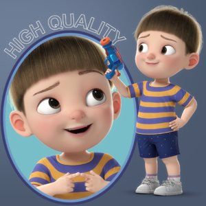 3D cartoon boy rigged character