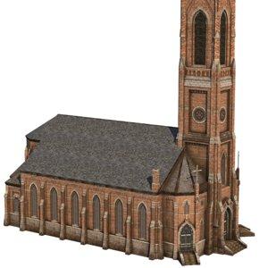 church 01 demo 3D model