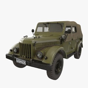 gaz-69a car vehicles 3D model