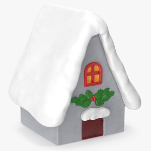 3D model christmas house decorative figurine