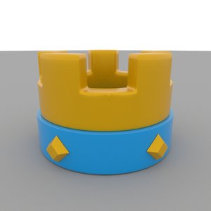 3D clash royale crown