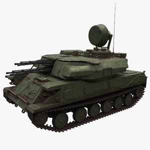 zsu-23-4 shilka anti aircraft 3D model