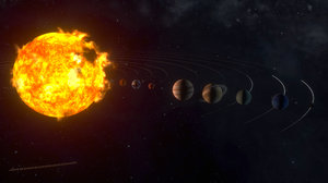 solar earth mercury 3D model