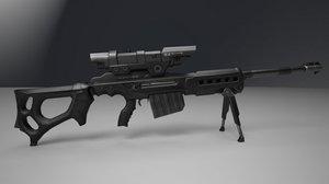 3D sniper rifle ksr-29 ksr model