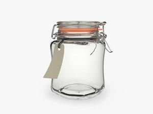 glass jar model