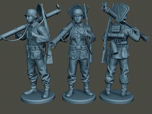 german soldier ww2 stand model
