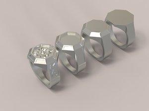 printing rings 3D model