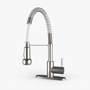 3D kitchen faucet model