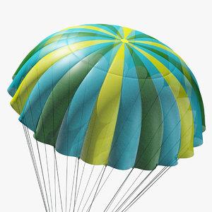parachute marvelous designer 3D model