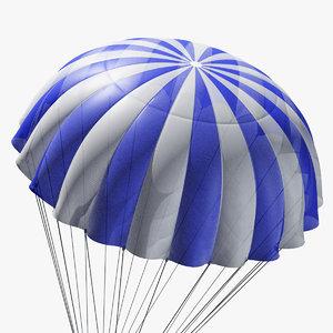 3D model parachute marvelous designer