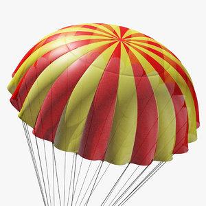 3D parachute marvelous designer model