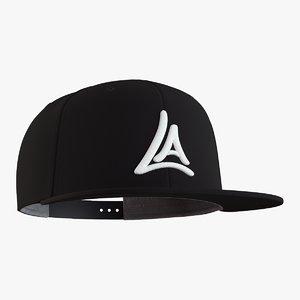 snapback cap 3D model