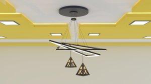 modern ceiling lamp 3D model