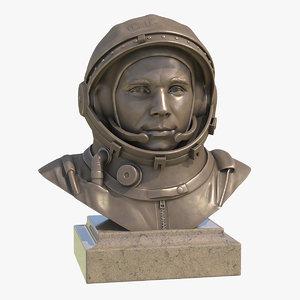 3D yuri gagarin model