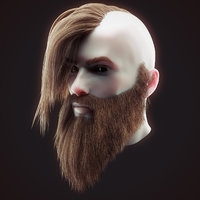 Head Hair Kit Low Poly 4