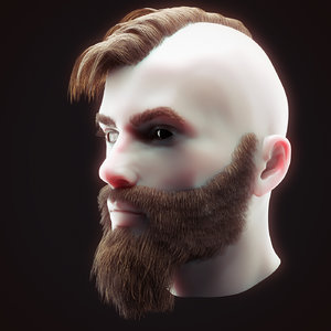 3D head hair kit 2 model