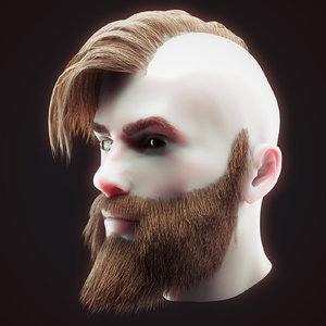 head hair kit 3 3D model