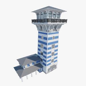 bahama lighthouse 3D