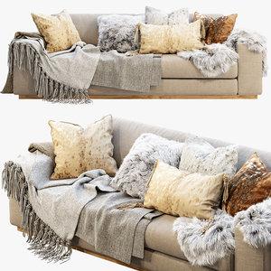 3D roveconcepts noah sofa fur