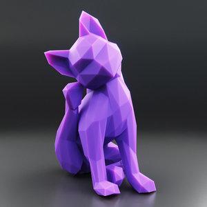 3D kitten 5 model