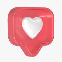 Instagram Like Heart 3D