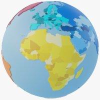 Geopolitical World Map