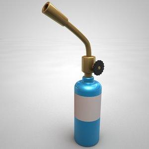 cartoon blow torch 3D model