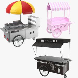 carts modeled 3D model