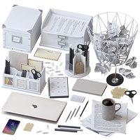 Office Supplies Set white