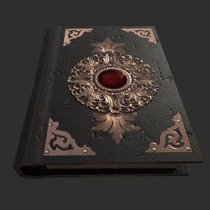 3D ruby book spells