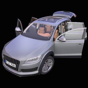 generic german suv interior car model