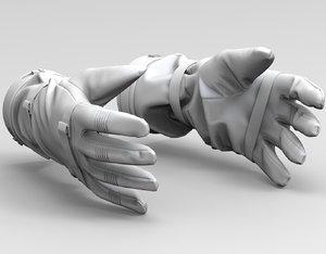 3D model astronaut gloves