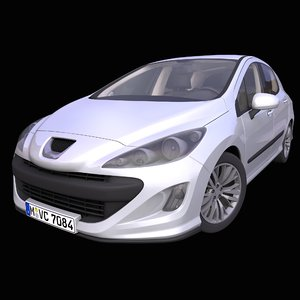 generic european hatchback interior car model