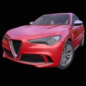 3D model generic italian suv interior car
