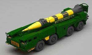 missile truck 3D model