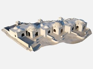 taliban base desert house 3D model