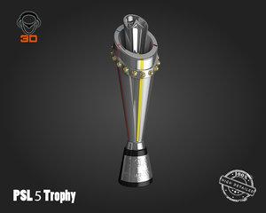 5 trophy 3D model
