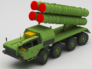 3D military missile truck model