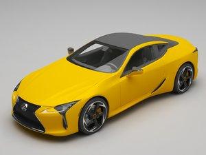 3D lexus car