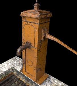 3D model victorian hand water pump