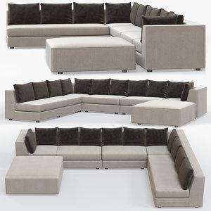 calvin sectional sofa 3D model