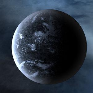 3D strange alien planet