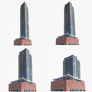 condominiums buildings model