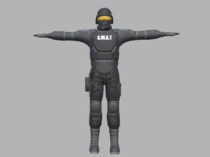 swat 3D model