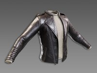 Lowpoly PBR Leather Jacket