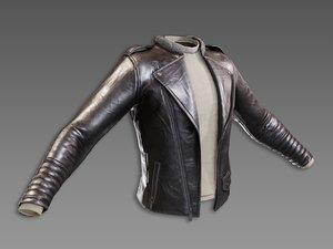 3D pbr leather jacket model