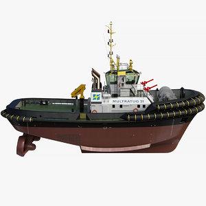 3D model asd tug boat 3212