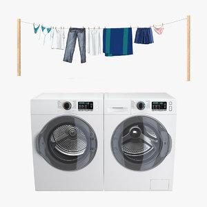 laundry drying 3D model
